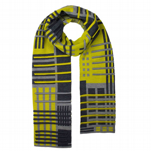 Thijs Verhaar - Parallel Scarf - Antra/Light Grey/Lime